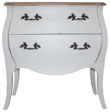 Block & Chisel white french country bedside table