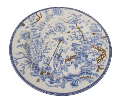 Block & Chisel blu toile bone china dinner plate