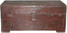 Block & Chisel wooden trunk with metal handles