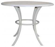 Block & Chisel round white nylon dining table