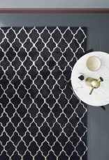 Block & Chisel black wool rug with geometric pattern