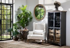 Industrial metal and wood drinks cabinet
