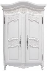 Block & Chisel distressed white 2 door armoire