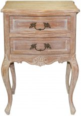 Block & Chisel french inspired mindi wood bedside table