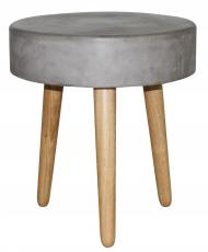 Block & Chisel stone top side table