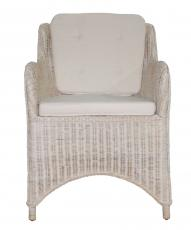 Block & Chisel white wash rattan armchair