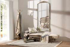 antique silver frame french mirror