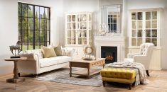 chesterfield 3 seater sofa in old beige