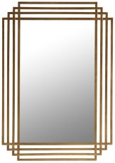 Block & Chisel rectangular mirror with antique gold metal frame