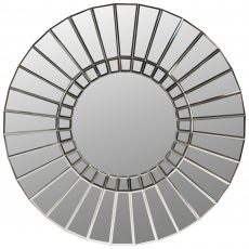 Block & Chisel round mirror with MDF and glass frame
