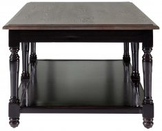 Block & Chisel weathered oak coffee table with black base