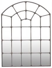 Block & Chisel round top cathedral shaped mirror