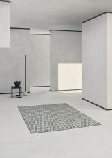 Block & Chisel black and white wool rug with diamond detai