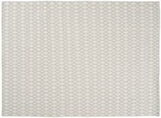 Block & Chisel cream wool rug with diamond detail