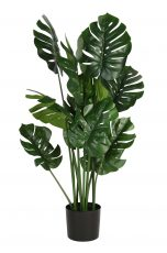 Green monstera faux artificial houseplant