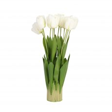 white faux artificial tulip flowers without pot