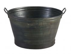 Block & Chisel round galvanised iron tub