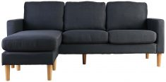 Block & Chisel charcoal upholstered corner sofa