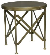 Block & Chisel round brass side table