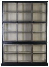 Block & Chisel wooden display cabinet with glass doors