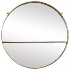 Block & Chisel round mirror with iron frame