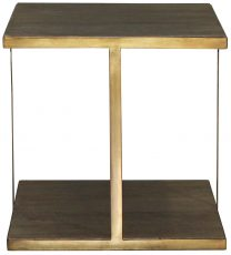 Block & Chisel square side table