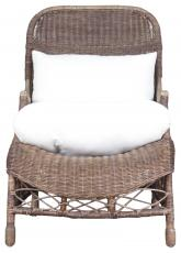 Block & Chisel brown rattan armchair