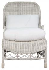Block & Chisel white washed rattan armchair