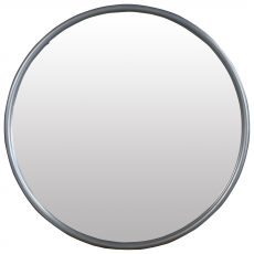 Block & Chisel round mirror with pewter frame