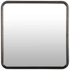 Block & Chisel square mirror with iron frame