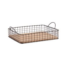 Metal wire frame basket tray
