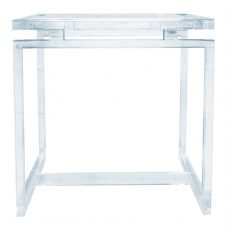 Block & Chisel acrylic side table