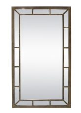 Block & Chisel tall rectangular panelled mirror with wooden frame