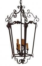 Block & Chisel black metal chandelier