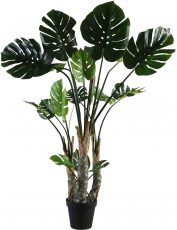 Block & Chisel faux monstera tree in plastic pot