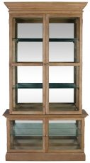 Block & Chisel oak wood and MDF display cabinet