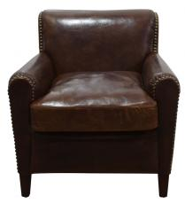 Block & Chisel brown leather armchair