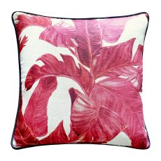 Block & Chisel leaf cushion pink linen