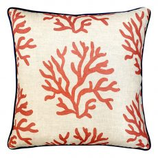 Block & Chisel coral cushion linen