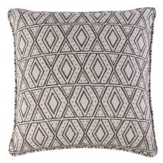 African print, tribal pattern, black and white cushion, front