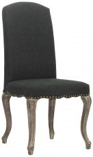 Block & Chisel charcoal linen upholstered dining chair