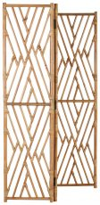 Block & Chisel natural rattan foldable screen