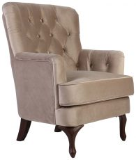 Block & Chisel light grey velvet upholstered occasional chair