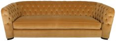 Block & Chisel gold velvet upholstered 3 seater sofa
