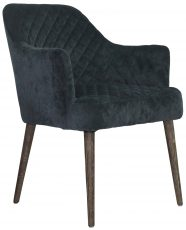 Block & Chisel charcoal upholstered carver chair