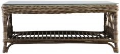 Block & Chisel rectangular rattan and kubu weave coffee table