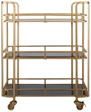Block & Chisel PVC and Iron 3 tier trolley on castors
