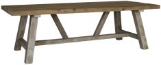 Block & Chisel rectangular recycled south pine dining table