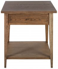 Block & Chisel solid antique weathered oak pedestal