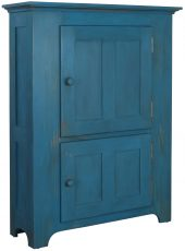 Block & Chisel blue distressed pantry cupboard